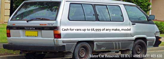 sell van for cash in Melbourne