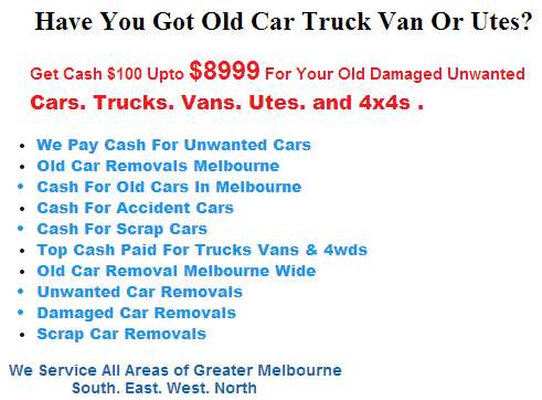Get Cash For Junk Cars In Thornbury Area