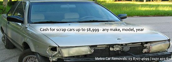 Cash for Scrap Car Removals Melbourne