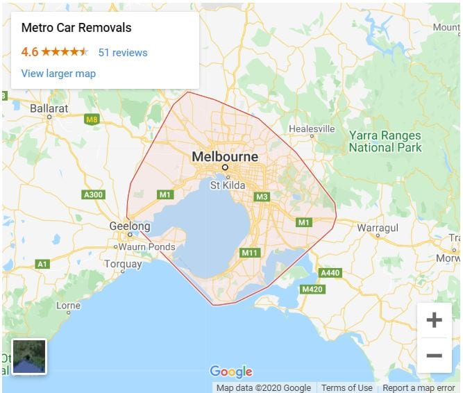 Metro Car Removals Coverage Area